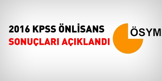 2016 KPSS önlisans sonuçları açıklandı